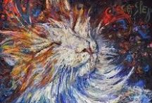 Irina Kasperskaya / Painter from great Saint-Petersburg, Russia, famous for her impasto technique. Represented by re:artiste.