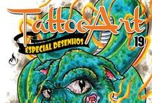 Revista TattooArt Desenhos / Revistas TattooArt serie Desenhos com referências de tatuadores para tatuadores.