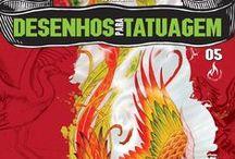 Revista Desenhos para Tatuagem / Revista com referências de desenhos de tatuadores para tatuadores. Edições com conteúdos variados.