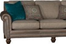 Mayo Leather/Fabric Sofas / Made in the USA