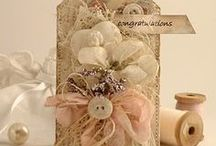 Shabby Chic / Vintage, laces, ribbon, embellishments