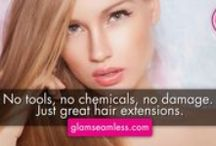 Glam Seamless Hair / Bringing you the latest hair extension trend. Tape-in hair extensions are all natural, non-damaging and semi-permanent.
