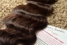 Wavy Hair Extensions / Tape In Hair Extensions available in beach wave. 40 pieces,which is 20 sandwiches, 100 grams of real human wavy hair.