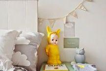 Kinderkamerinspiratie Geel & Grijs / Mooie producten en sfeerbeelden in geel & grijs