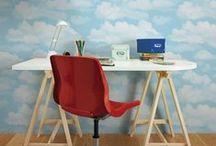 Aquarelles / Des papiers peints aux nuances bleutées, vertes ou rosées, pour un intérieur doux et candide !