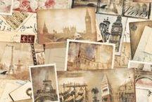 Souvenirs de Voyage / Qui n'a jamais rêvé de faire le tour du monde ? Photos amassées et mappemondes vieillies nous donnent un aperçu de cette incroyable épopée...