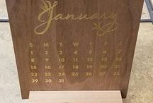 Calendars & Wood Blocks / Wooden Calendars or Calendar Blocks made from scratch in Colorado, USA but shipped to anywhere in the world. Please contact us for a price quote: Sales@ucppromo.com, 970-282-9591