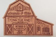 Wood Save the Dates / Wooden save the date cards and magnets. Set the tone for your wedding or special event with an announcement that doubles as a keepsake! :) Made in Fort Collins, Colorado USA but shipped to anywhere in the world. Contact us for a quote: Sales@ucppromo.com, 970-282-9591