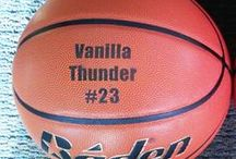 Personalized Athletic Balls / Basketballs, Footballs and Baseballs laser engraved with your logo/artwork. Also available are display stands, gloves and bats personalized for you. Contact us for a price quote: Sales@ucppromo.com. 970-282-9591