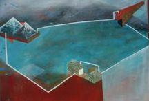 Paul Lozano / Siempre arranco con trazos de carbón negro sobre papel blanco, de allí voy integrando el color. Pero mis pinturas, dibujos, grabados inician siempre con el negro, es como el esqueleto de toda mi obra, de allí les voy dando forma.