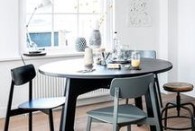 Round Dining Tables / Sometimes space can be tight and a round dining table would work better. #diningtable #round #rounddiningtable