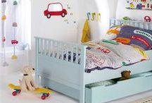 Bright Boy's Bedroom / #boy #bedroom #fun #bright colours