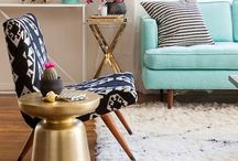 Eclectic Living Rooms / A bohemian style, mixing unusual patterns, colours & designs together. #living room #eclectic #bohemian