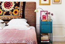 Eclectic Bedrooms / A bohemian style, mixing unusual patterns, colours & designs together. #bedroom #eclectic #bohemian