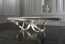 Modern Dining Spaces / Futuristic and iconic shapes & textures. #dining room #modern #futuristic