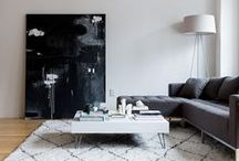 Minimal Living Spaces / A few simple pieces with clean lines. #living room #minimal