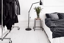 Minimalist Bedrooms / A few simple pieces with clean lines. #bedroom #minimal