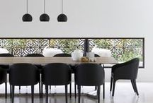 Urban Chic Dining / Contemporary and clean yet functional. #dining room #urban #chic