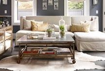 Organic Modern Living / Pairing rustic and worn together with some modern and fashionable pieces. #living room #rustic #modern #old&new