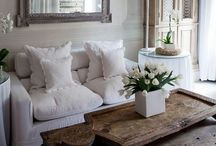 Shabby Chic Living / French style, distressed look. #living room #shabbychic #frenchstyle #distressed