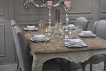 Shabby Chic Dining / French style, distressed look. #dining room #shabbychic #frenchstyle #distressed