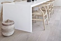 Scandi Dining Spaces / A sleek and cool Scandinavian contemporary look. #dining room #Scandinavian #scandilook #contemporary
