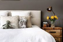 Calming Bedrooms / A warm but raw look incorporating natural materials and earthy tones. #bedroom #nature #calm #earthytones