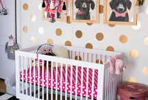 Eclectic Nursery Ideas / Colourful and homely, mixing patterns, textiles and designs. #baby #nursery #eclectic #colourful