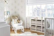 Stylish Nursery Ideas / Modern with bold shapes, colours or textures. #baby #nursery #stylish #modern