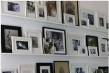 Gallery Wall Ideas / A big trend right now! How to create a gallery wall in your home.  Different combinations and arrangements of picture frames and picture shelves. So many different looks from casual leaning frames overlapping to more symmetric arrangements. Browse our collection of pins for inspiration to suit your home!