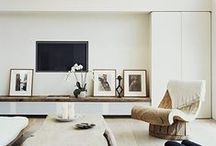 TV Stand Ideas / Images on how to make the most of displaying your television among an arrangement of shelving. Different styles of media units, floating shelving and ideas for styling.