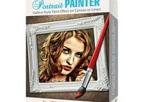 Portrait Painter / Simulating hand painted portraits on fine linen or canvas, Portrait Painter adds color, light and texture to produce art that resonates with vibrant life. Available on Mac/Win/iOS/Android
