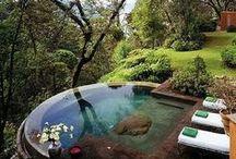 piscinas, fuentes, jardines y huerta / by Gloria Jordan