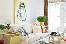 Beach Living Rooms / Living room interiors with a beach vibe, inspired by sea, sand, and sun. / by Beach Bliss Living