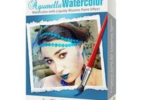 Aquarella Watercolor / Transform your image into one with liquid pools of translucent color blended fluidly on paper to create a watercolor with all the delicate details found in traditional watercolor media. Available on Mac/Win/iOS