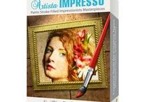 Artista Impresso / One-touch settings automatically transform photos into impressionism paintings using one of many paint styles.  Available for Mac/Win/iOS/Android