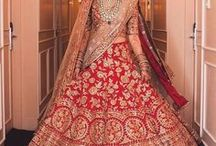 wedding lehengas for the bride / A collection of stunning bridal lehengas for Indian Brides - From traditional to chic, we're curating the best in Indian bridal fashion, making for some serious wedding day inspiration for our brides :)