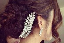 Engagement Hairstyles / Chic and glamorous hair styles for the engagement/cocktail events for every Indian Bride!