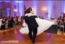 Purple Uplights / White Rose Entertainment Weddings with Purple Uplighting.