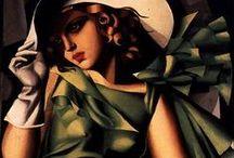 Tamara de Lempicka (1898 - 1980) / Pittrice polacca, appartenente alla corrente dell'Art Déco.