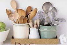 Kitchen Organization / Bake ware, utensils, cabinets and gadgets-it all needs to be organized. Make your kitchen (and your counters) look good!