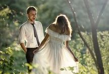 Woodland Wedding / Lights in the trees... Flowers in the hair... Floaty dress... Love's in the air :)