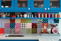 Colorful Kitchen Design / All things colorful in the #kitchen.