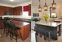 Before & After Kitchen Designs / A collection of the best before/after kitchen transformations!