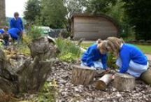 Outdoor classroom ideas / ideas for creating temporary and permanent outdoor learning spaces