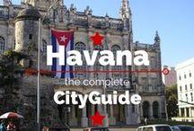 Havana / Ga je een rondreis Cuba maken? Blijf dan ook een paar dagen in Havana! Wat een sfeer, wat een kleuren, wat een gezelligheid. Op dit bord vind je alle tips over bezienswaardigheden, eten en drinken in Havana. http://mooistestedentrips.nl/stedentrip/havana
