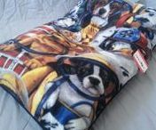 Bean Bag Beds / Double bagged bean bag beds for pets