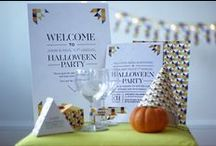 Halloween Printables: Geometrics Collection / Customised Halloween party printables. Get them at Fandangle London: https://www.etsy.com/uk/listing/250178983/customised-printable-halloween-party-kit