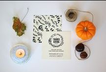 A Thanksgiving Feast Collection / Hand-painted personalised Thanksgiving Dinner Party printables. Get them at Fandangle London: https://www.etsy.com/listing/250376838/printable-thanksgiving-dinner-kit-a