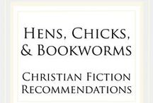 Hens, Chicks, & Bookworms Recommendations / Christian fiction book recommendations from a variety of genres. For an invitation to pin to this board, please email chautona@chautona.com with your Pinterest user name and your website.   Authors: Please limit pins of YOUR books to 5 per session.  This will help keep an eclectic mix of books at the top.